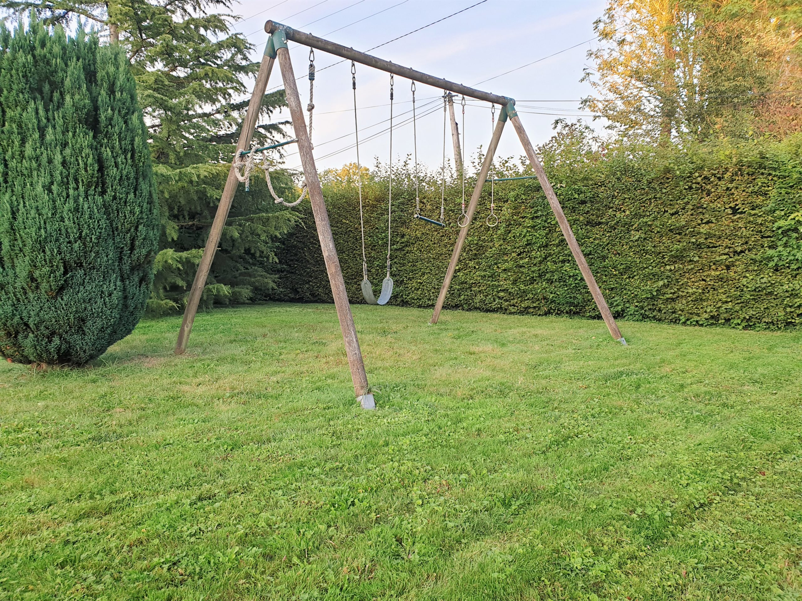 Outside swing set